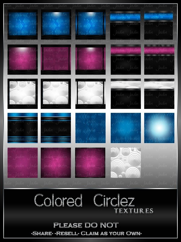 Colored Circlez Texture Pack --- $4.00