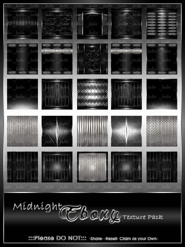 Midnight Ebony Texture Pack-- $8.00