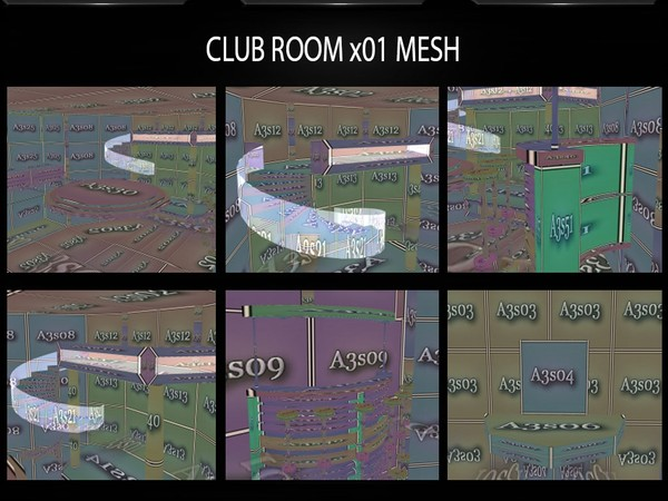 CLUB ROOM X01 MESH with COUCH MESH GIFT FILES by Angelon3S