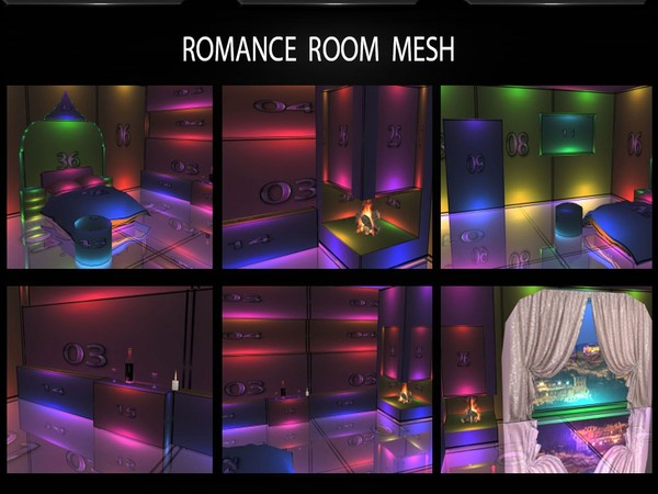 ROMANCE ROOM MESH with COUCH MESH GIFT FILES by Angelon3S
