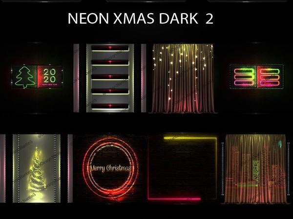 NEON XMAS DARK FILES 2 ..42 Textures 256x256jpg.