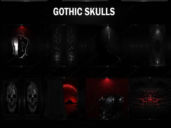 GOTHIC SKULLS 42Textures 256x256