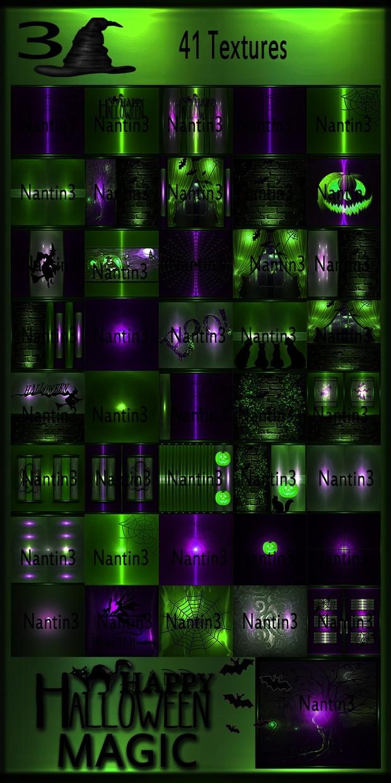HALLOWEEN MAGIC 3 FILES 41Textures 256x256jpg