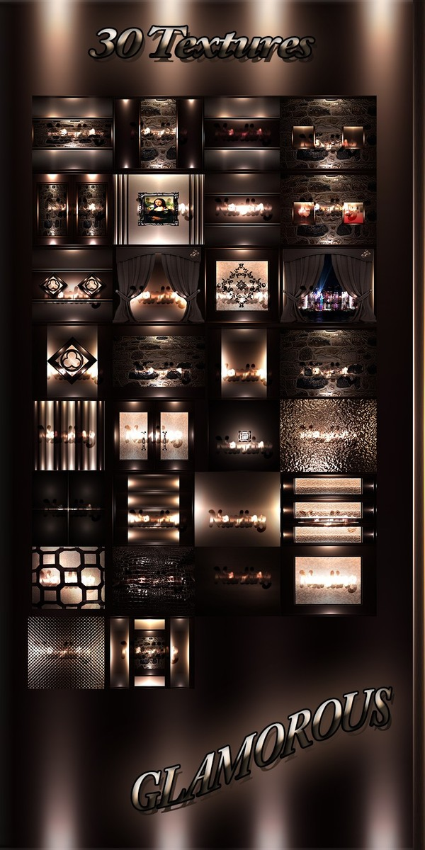 GLAMOROUS FILES 30Textures 256x256jpg.