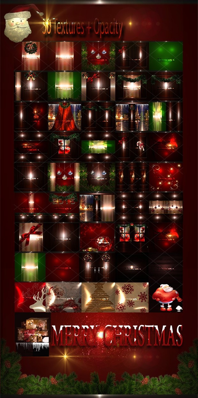 MERRY CHRISTMAS FILES 50Textures + Opacity 256x256jpg.