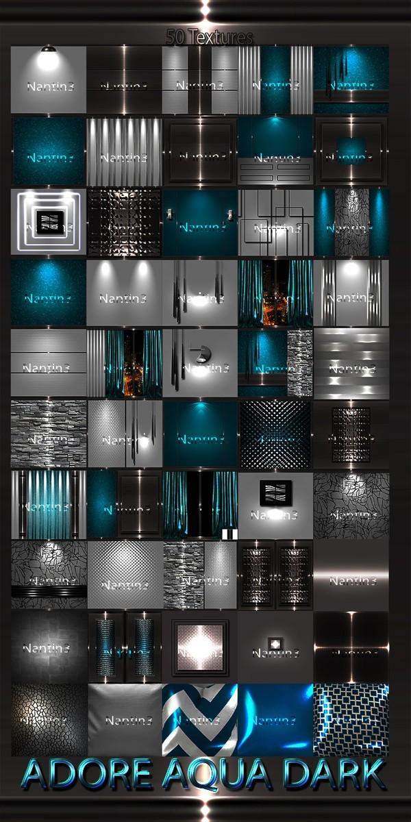 ADORE AQUA DARK FILES 50Textures 256x256jpg.