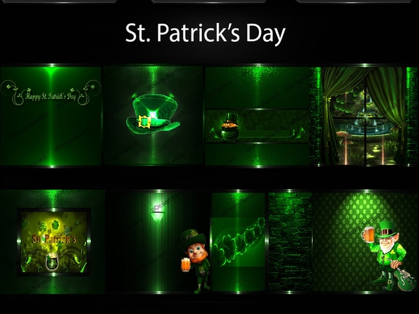 ST. PATRICK'S DAY FILES  40Textures 256x256jpg.