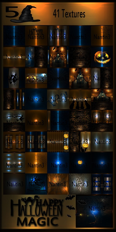 HALLOWEEN MAGIC 5 FILES 41Textures 256x256jpg