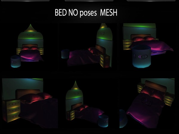 BED NO POSES MESH FILE by Angelon3S