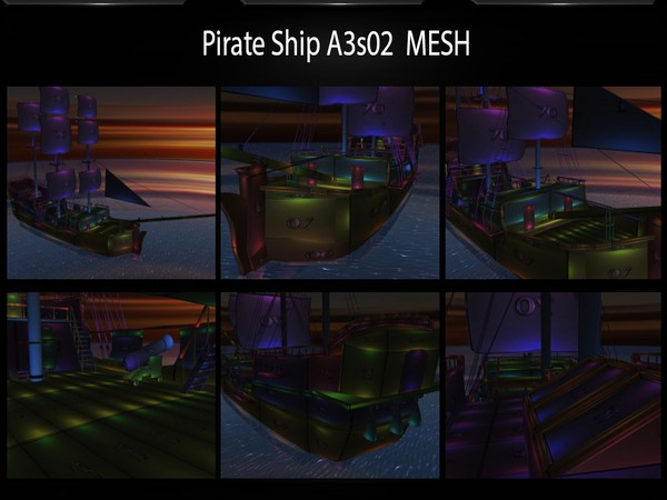 PIRATE SHIP ROOM MESH + BARRELS SEAT GIFT  by Angelon3S