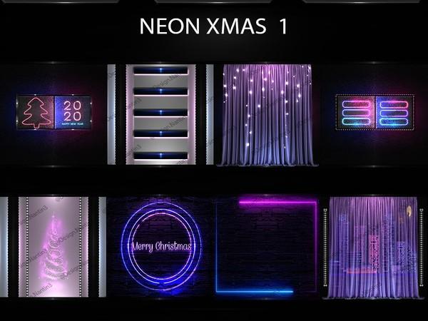 NEON XMAS FILES 1 ..42 Textures 256x256jpg.