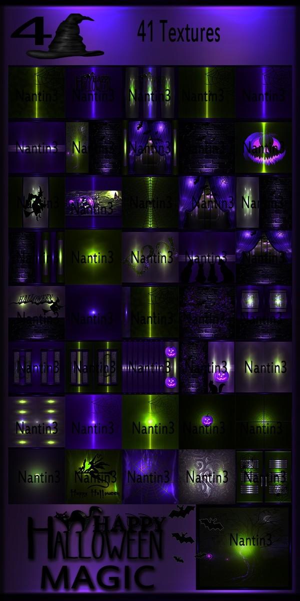 HALLOWEEN MAGIC 4 FILES 41Textures 256x256jpg