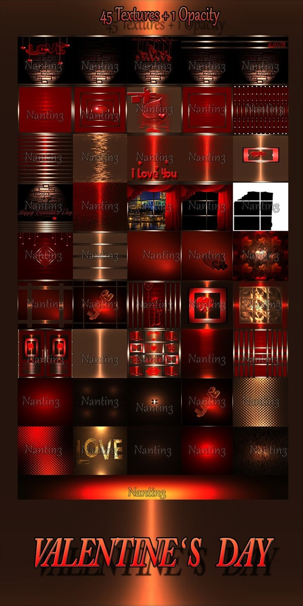 VALENTINE' S DAY FILES 45Textures + 1 Opacity 256x256jpg.