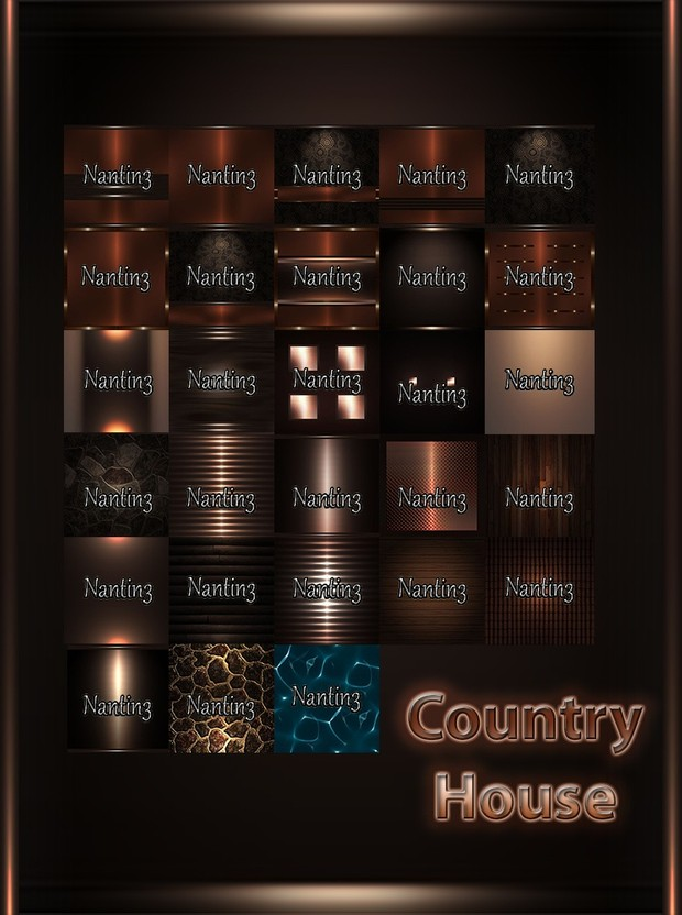 COUNTRY HOUSE FILES 28 Textures 256x256jpg