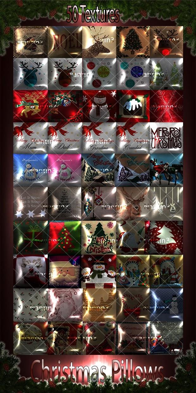 CHRISTMAS PILLOWS FILES 50Textures 256x256jpg.