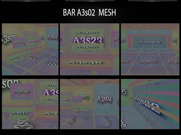 BAR ROOM x02 MESH with COUCH MESH GIFT FILES by Angelon3S
