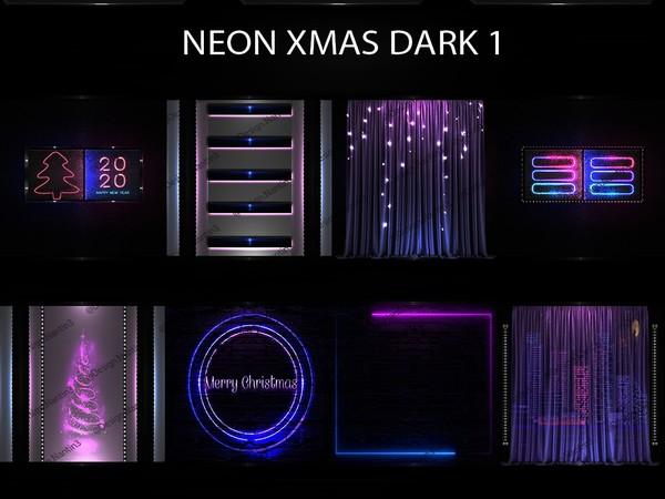 NEON XMAS DARK FILES 1 ..42 Textures 256x256jpg.
