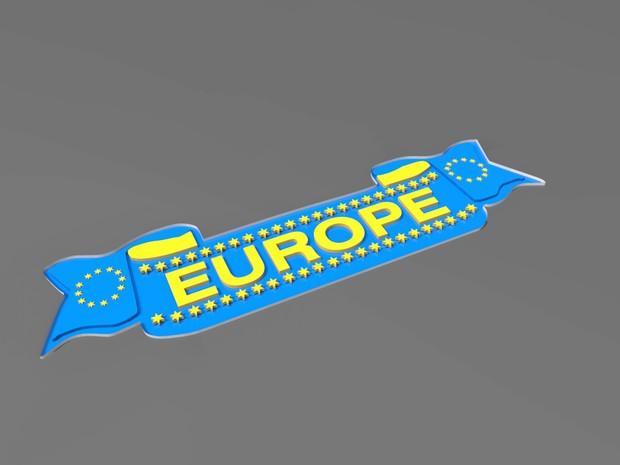 Europe 3D sticker