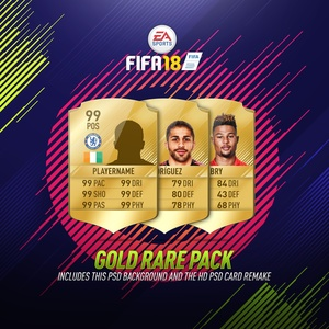 FIFA 18 Gold HD Card+Background