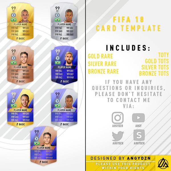 FIFA 18 card templates (PSD)