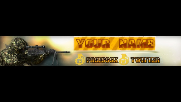 Banner Template Poshop | Fps Style Youtube Banner Template Photoshop Editable