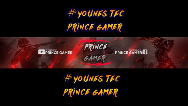free gaming banner template banner psd download for