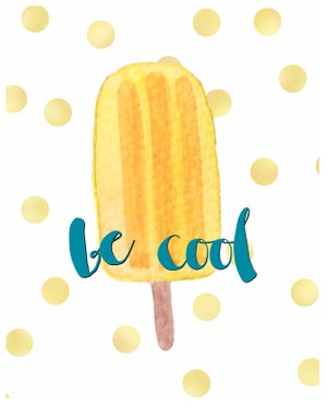 Be cool- Summer digital download-8x10