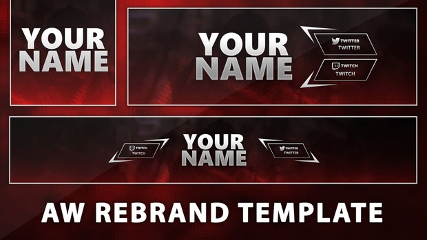 Red AW Youtube Banner Template