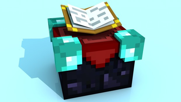 Minecraft Enchantment Table C4D Rig