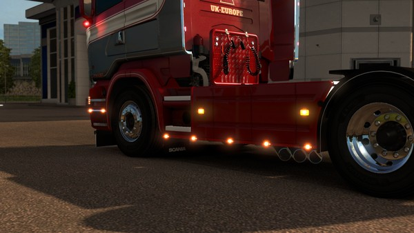Scania RJL Triple down exit pipes