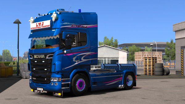 Scania RJL Duel Angle Pipes