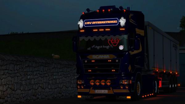 Scania RJL V8 Backboard