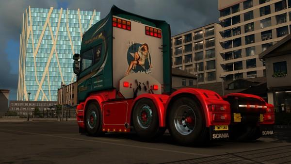 Scania RJL Sideskirts and Chassis bar