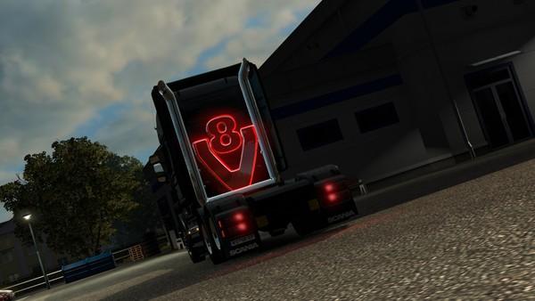Scania RJL LED V8 Stack pipes [Tcab]