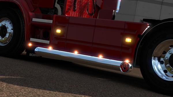 Scania RJL single V8 exit