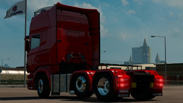 Square fuel tanks for Scania RJL (6xx chassis)