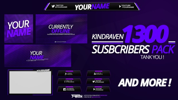 FREE REVAMP PACK FOR TWITCH ! THX FOR 1300 SUBS - KindRaven