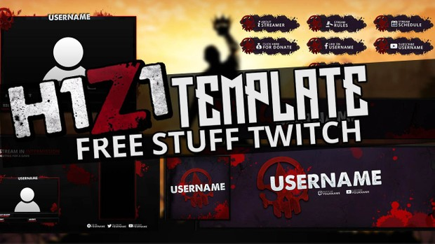 free twitch overlay template h1z1 theme