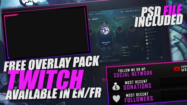 Free Overlay | Template Twitch [EN/FR] - KindRaven