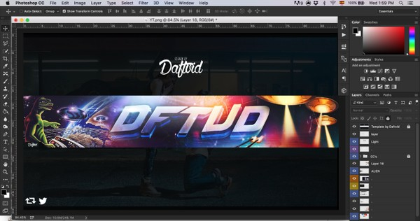 Youtube Banner Template (PSD)