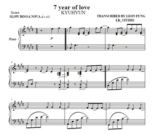7 YEAR OF LOVE (C#m) KYUHYUN - Piano Sheet