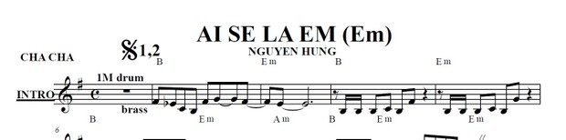 Band Sheet -  Ai Se La Em - Nguyen Hung- Key: F#m
