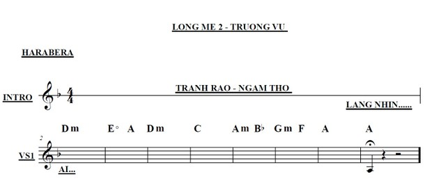 Band Sheet -  Long Me 2  - Truong Vu- Key: Fm