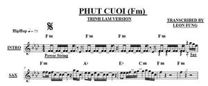 Phut Cuoi - Fm  - Trinh Lam Version - Band Sheet