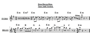 Band Sheet -  Dem Huyen Dieu - Ngoc Anh- Key: Em