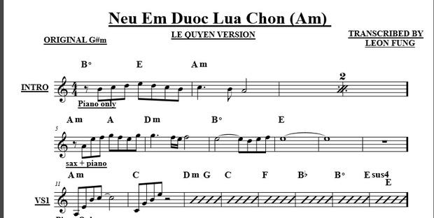 Neu Em Duoc Lua Chon - Le Quyen Version