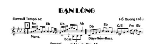 Band Sheet -  Ban Long  - Ho Quang Hieu - Key: Fm