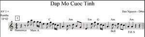 Band Sheet -  Dap Mo Cuoc Tinh - Dan Nguyen- Key: D#m