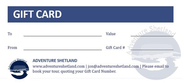Adventure Shetland Gift Cards