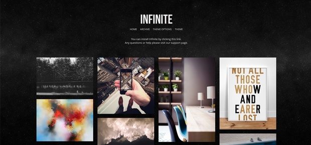Infinite 4 - Simple and clean grid based Tumblr theme